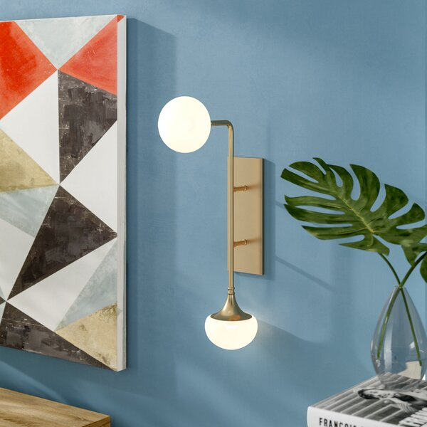Alongi 2-Light Wall Sconce by Langley Street