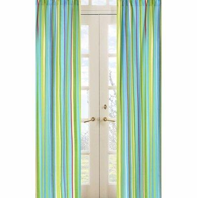 Layla Striped Semi-Sheer Rod Pocket Curtain Panels (Set of 2) by Sweet Jojo Designs