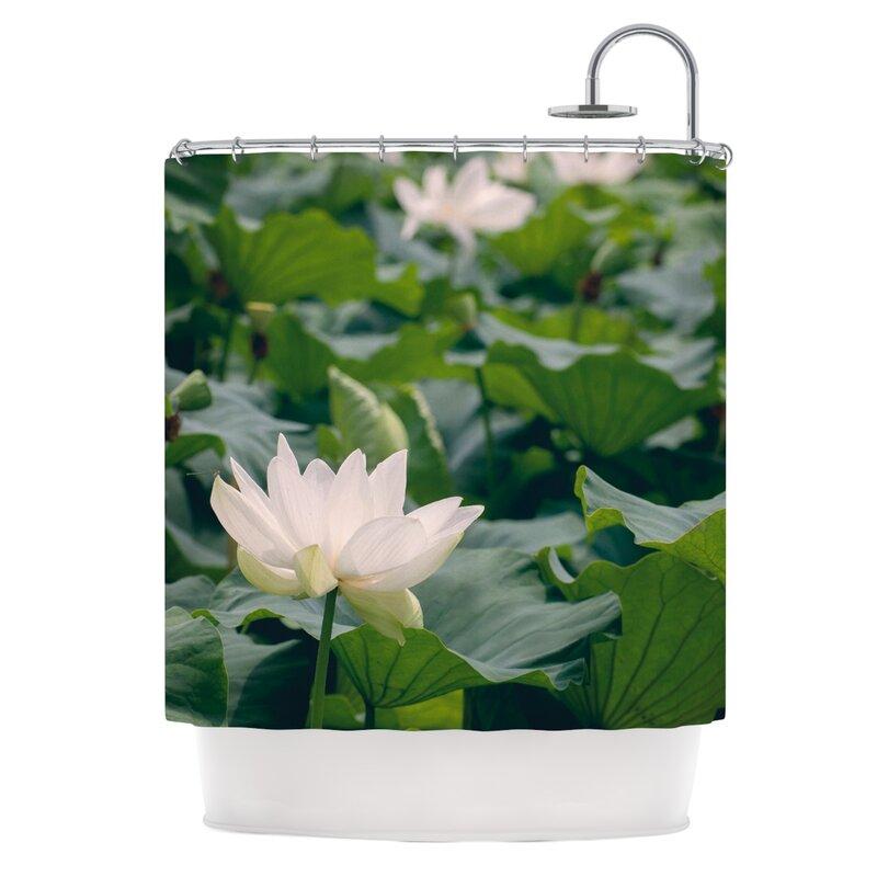 East Urban Home Lotus Shower Curtain