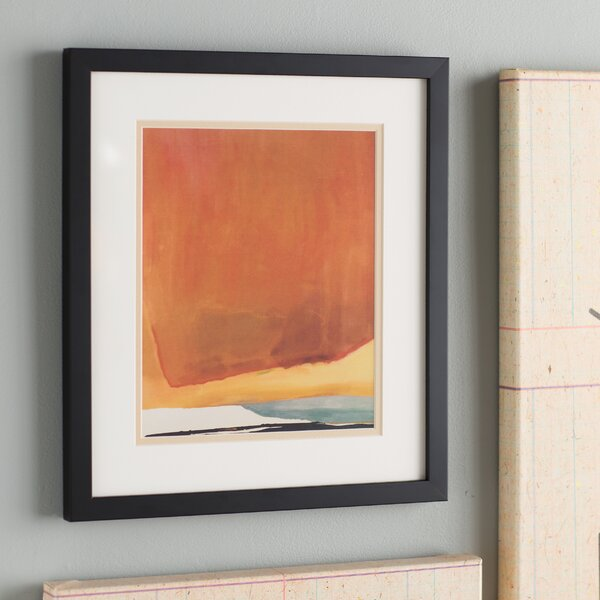 Sunset Corner,1969 Abstract Framed Painting Print by Langley Street