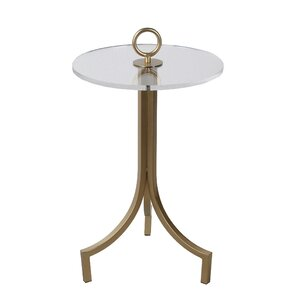 Galvan Iron and Acrylic End Table by Rosdorf Park