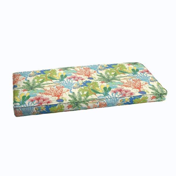 Evadne Corded Indoor/Outdoor Bench Cushion by Bayou Breeze