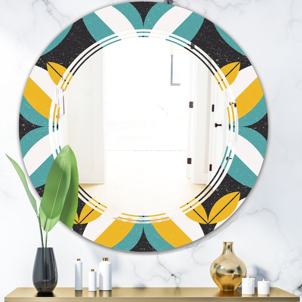 Abstract Design VII Triple C Modern Frameless Wall Mirror