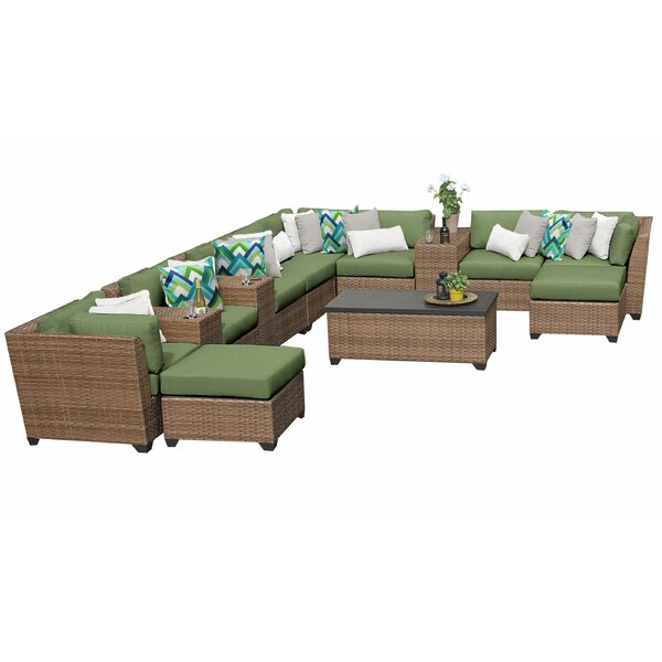 Waterbury 14 Piece Sectional Seating Group with Cushions by Sol 72 Outdoor