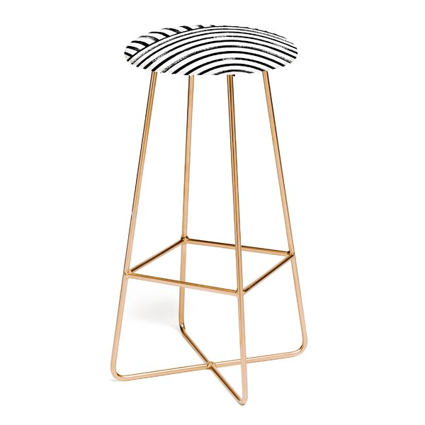 Kelly Haines Stripe Pattern 30 Bar Stool by East Urban Home