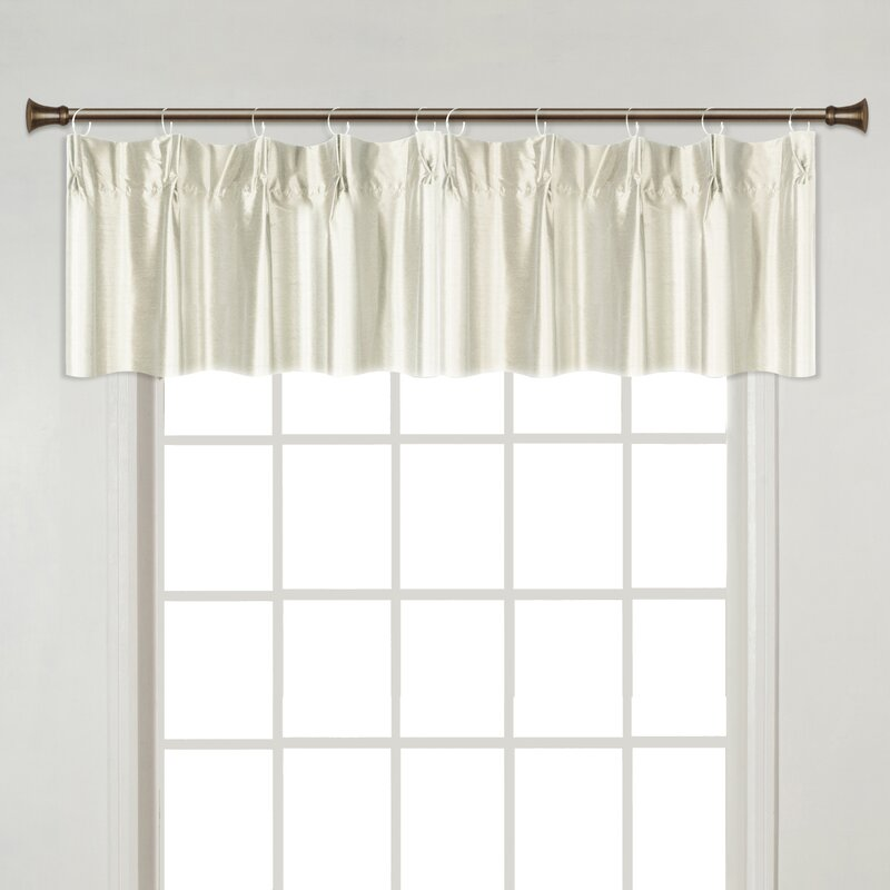 curtain p x valance pleat panel croscill treatment look pinch window newport