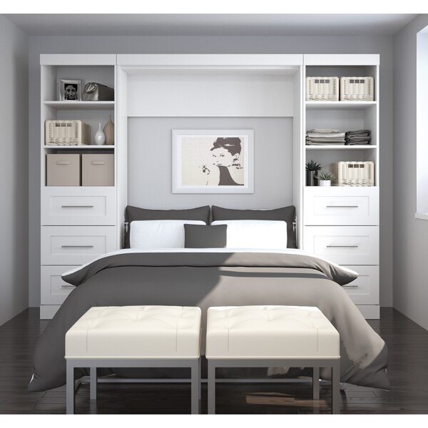 Storage Murphy Bed by Beachcrest Home Beachcrest Home