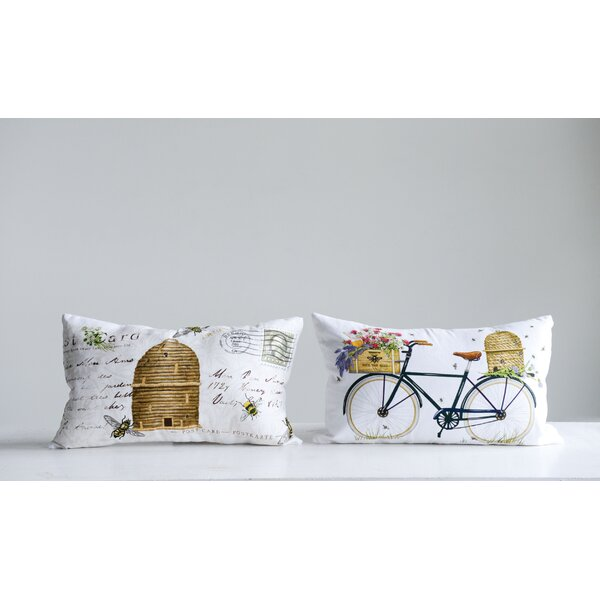 Zelazny 2 Piece Beehive Cotton Lumbar Pillow Set by August Grove