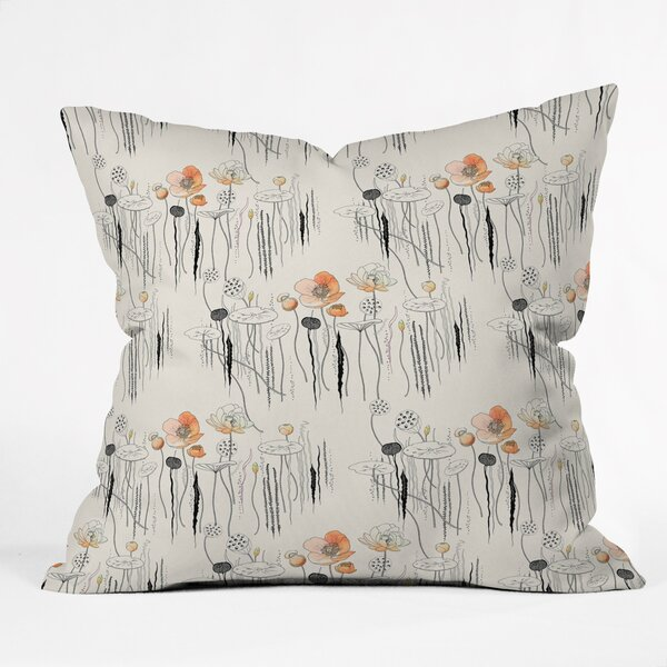 Iveta Abolina Coral Watercress Pond Indoor/Outdoor Throw Pillow by East Urban Home