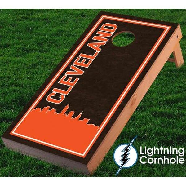 Cleveland Skyline Cornhole Board by Lightning Cornhole