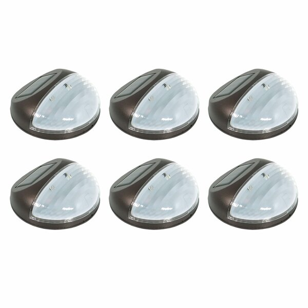 Round Solar Mounted LED Walkway Light (Set of 6) b