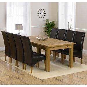 Essgruppe Ritual mit ausziehbarem Tisch und 8 Stühlen von Home Etc
