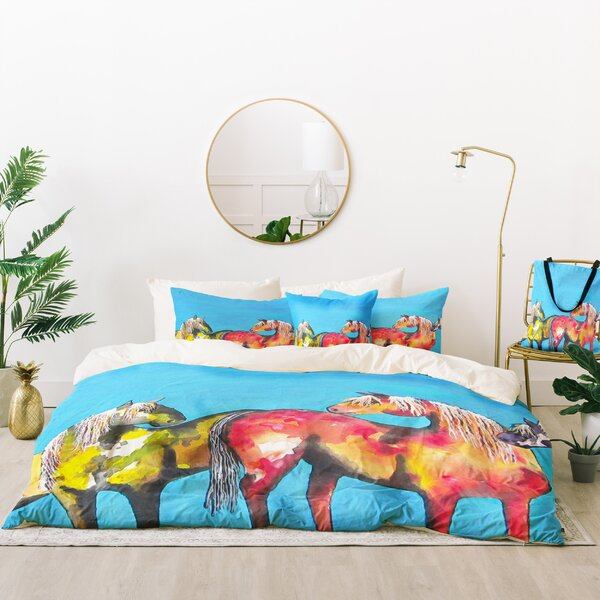Clara Nilles Painted Ponies Duvet Cover Set