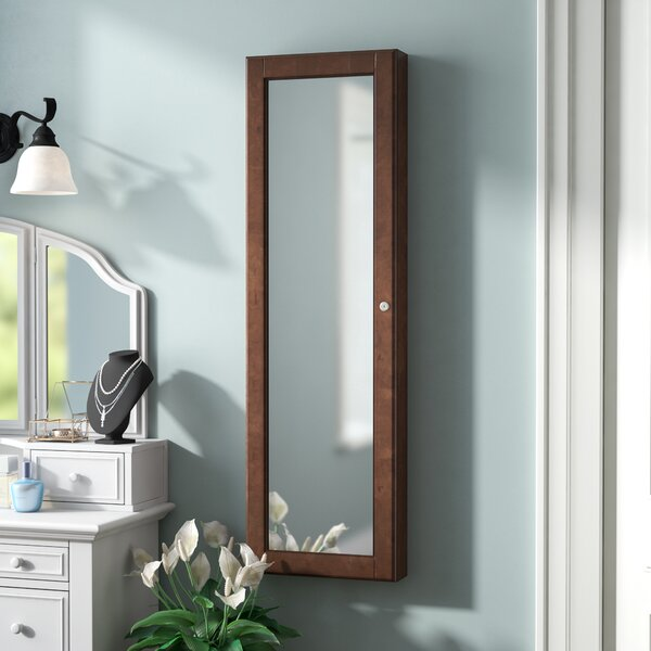 Chauncey Wall-Mounted Jewelry Armoire with  Mirror by Alcott Hill