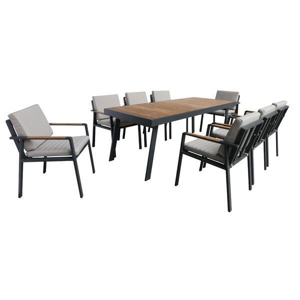 Lucian9 Piece Dining Set with Cushions