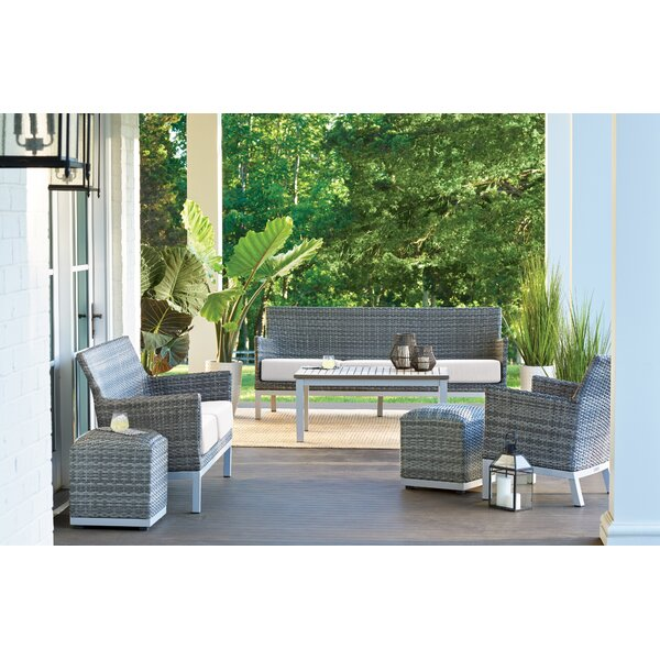 Millerton 6 Piece Conversation Set with Cushions by Bungalow Rose