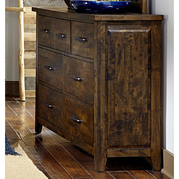 Capra Wooden 7 Drawer Double Dresser by Loon Peak