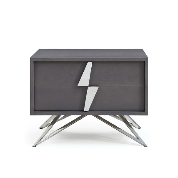 Yacine 2 Drawer Nightstand By Brayden Studio