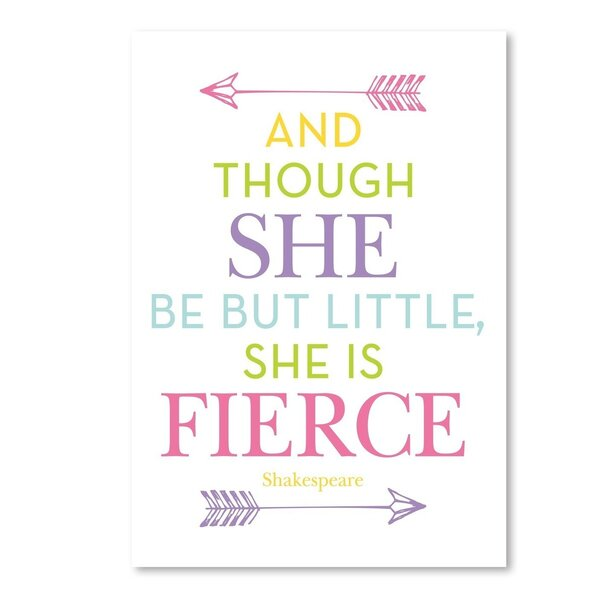 She Is Fierce Paper Print by Viv + Rae