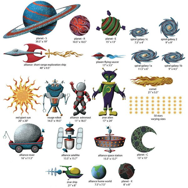 Space Wall Decal Kit by My Wonderful Walls