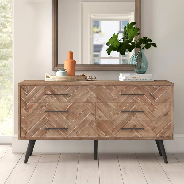 Lexy 6 Drawer Double Dresser by Foundstone