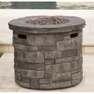 Reviews Cooksey Stone Propane Fire Pit Table By 17 Stories