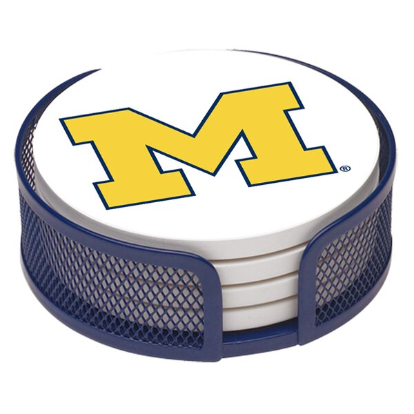 5 Piece University of Michigan Collegiate Coaster Gift Set by Thirstystone