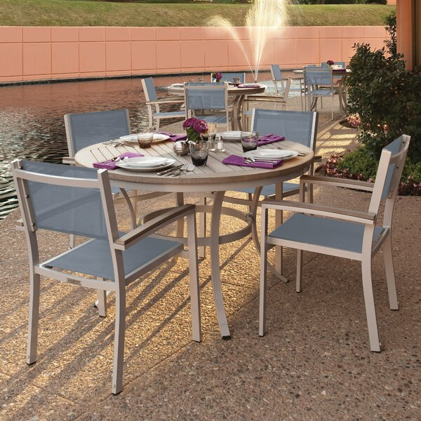 Caspian 5 Piece Dining Set with Titanium Sling Back Chairs by Sol 72 Outdoor