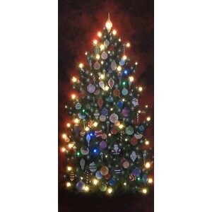 Indoor LED Happy Christmas Tree Graphic Art by West of the Wind Outdoor Canvas Art