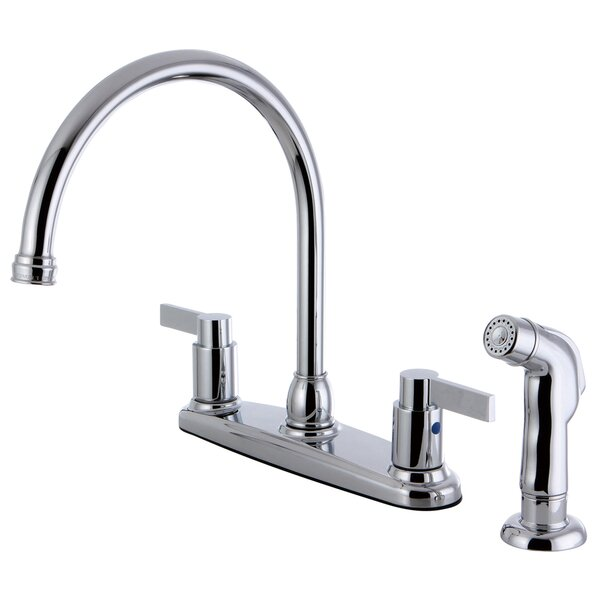 NuvofusionDouble Handle Kitchen Faucet with Side Sprayer by Kingston Brass