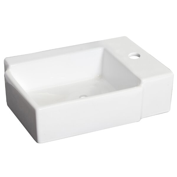 Ceramic 17 Wall Mount Bathroom Sink by Royal Purple Bath Kitchen