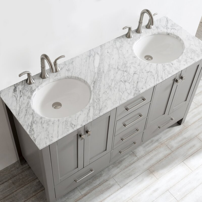 Beachcrest Home Newtown Double Bathroom Vanity Reviews Wayfair - Bathroom specialty stores