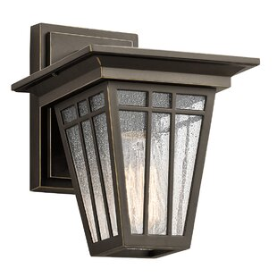Best Reviews Glendale 1-Light Outdoor Wall Lantern By Loon Peak