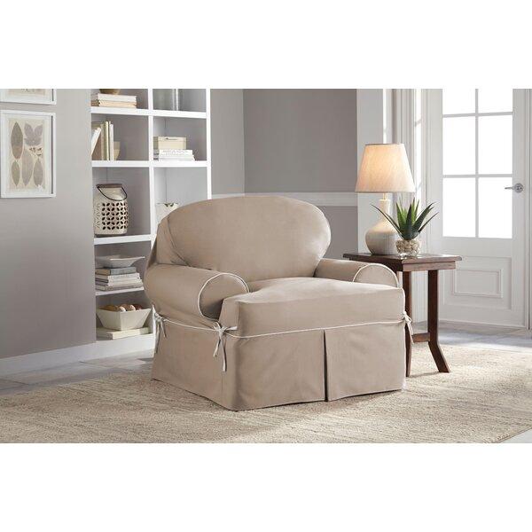 Twill T-Cushion Armchair Slipcover by Serta