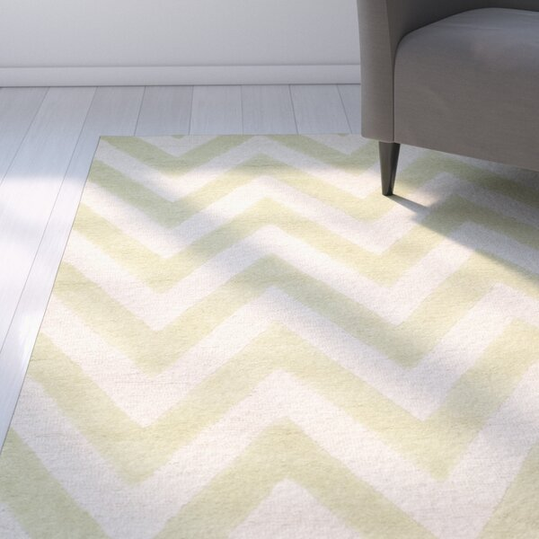 Charlenne Hand-Tufted Light Green/Ivory Area Rug by Zipcode Design