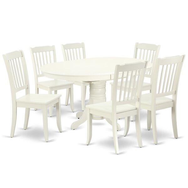 Labbe 7 Piece Extendable Solid Wood Dining Set by August Grove