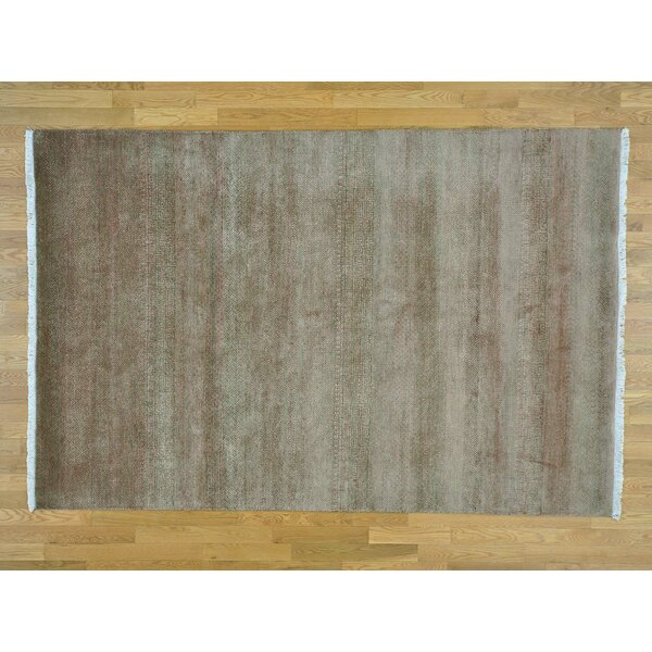 One-of-a-Kind Becker Grass Design Hand-Knotted Wool Area Rug by Isabelline