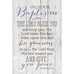 On Your Baptism … Textual Art Plaque by Dexsa