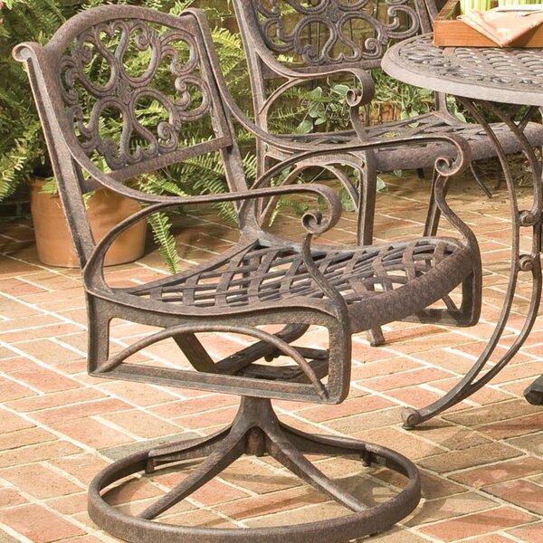 Van Glider Swivel Patio Dining Chair by Astoria Grand