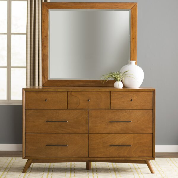 Parocela 7 Drawer Double Dresser with Mirror by Foundstone