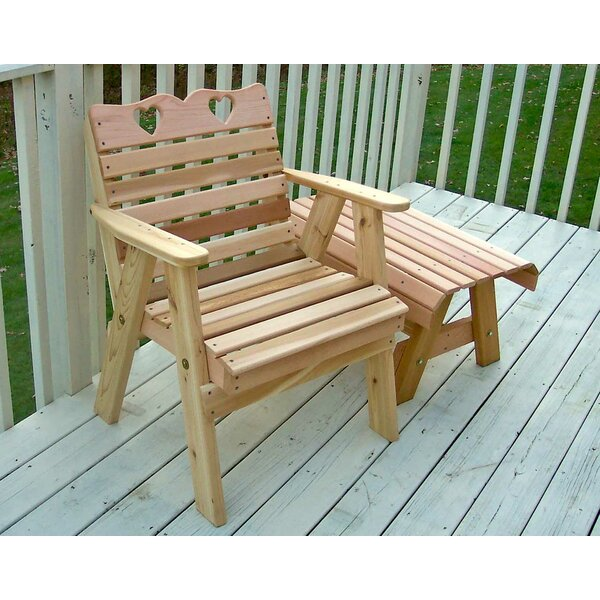 Celie Country Hearts Patio Dining Chair By Rosalind Wheeler