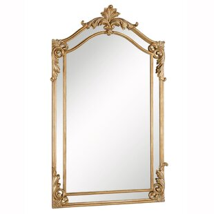 Astoria Grand Traditional Gold Arch/Crowned Top Wood Wall Mirror