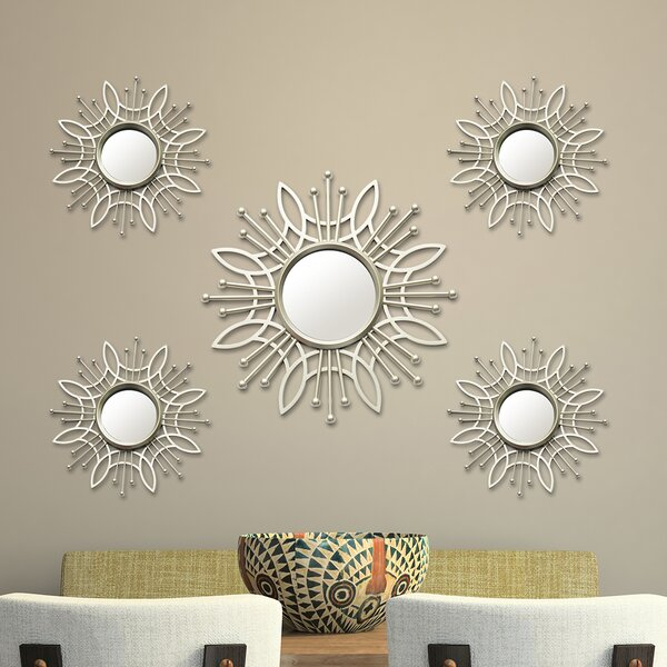 5 Piece Burst Wall Mirror Set by Stratton Home Decor