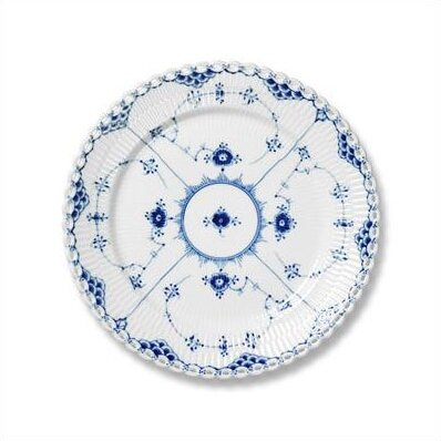Blue Fluted Full Lace 6.75 Bread and Butter Plate by Royal Copenhagen