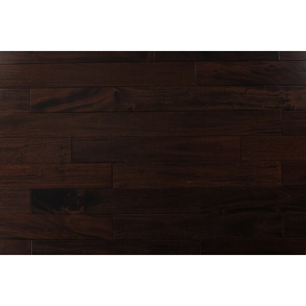 4.75 Solid Mahogany Hardwood Flooring in Pitch Comodo by Albero Valley