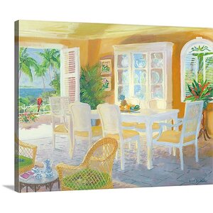 'Caribbean Coffee' by William Ireland Painting Print on Wrapped Canvas by Great Big Canvas