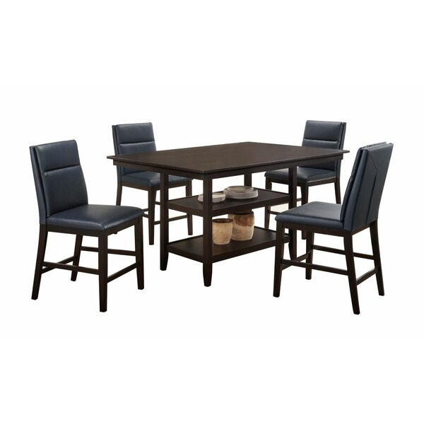 Lawing 5 Piece Counter Height Pub Table Set by Latitude Run