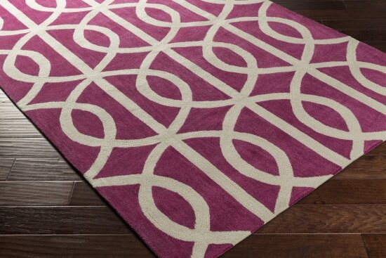 Gingrich Fuchsia & Ivory Area Rug by Ivy Bronx