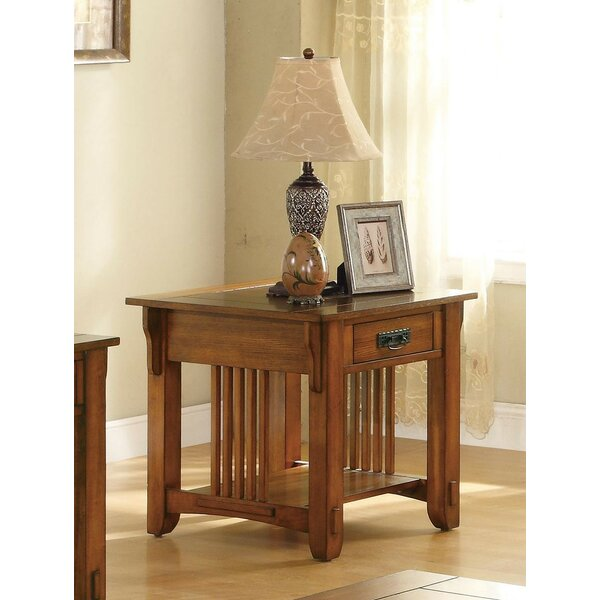 Palmetto Occasional Drawer End Table by August Grove