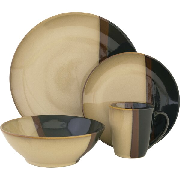 Tempo 16 Piece Dinnerware Set, Service for 4 by Sango